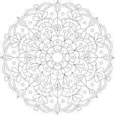 Free Printable Mandala Coloring Pages For Adults A Floral Mandala