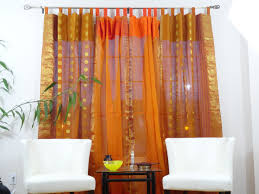 Orange Curtains For Living Room Curtains And Drapes