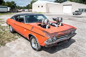 Old Chevelle with massive turbo system that was brought up from ...