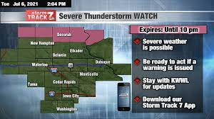 TRACKING: A Severe Thunderstorm Watch ...
