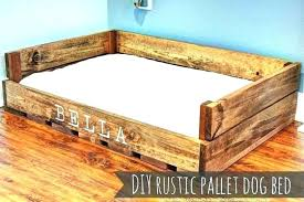 raised dog bed wooden beds with steps