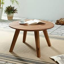 contemporary acacia wood round plank