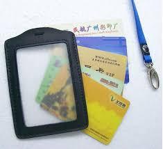 <b>MIWIND Genuine Leather</b> Badges Holders,Transparent Work Permit ...