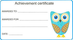 Printable Achievement Certificates Certificates For Kids Form Printable Achievement Certificate