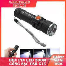 Đèn Pin Cầm Tay Siêu Sáng Cổng Sạc USB 515 Tiện Dụng - Đèn pin Nhãn hàng  OEM