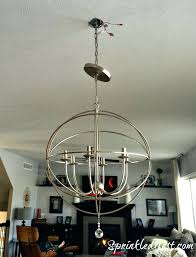 aged silver orb chandelier designs antique