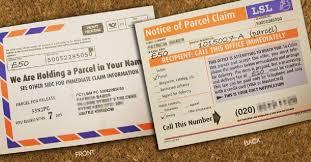 Service Fact Scam ' Delivery Telephone 'parcel Check t1WOqPtrx