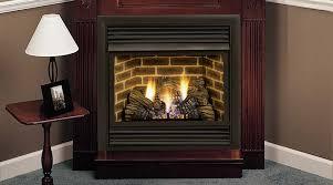 ventless gas fireplace corner