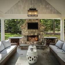 outdoor fireplace tv niche design ideas best for patio