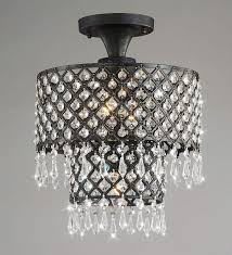 sweet looking flush mount chandelier crystal jojospring melinda 3 light antique black com bronze