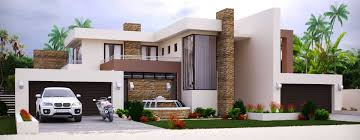 Beautiful Modern Style House Plan Bedroom Double Storey Floor Plans Home
