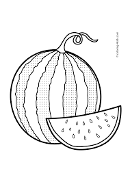 Small Picture Watermelon Fruits coloring pages for kids printable free