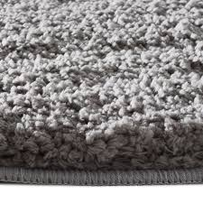 Thick Bathroom Rugs Bath Mat Rug Silver Grey 6 Sizes Available