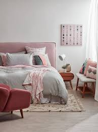 scandi pink style bedroom