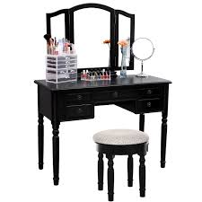 makeup vanity table without mirror bedroom black narrow lighted with and bench small chair set desk