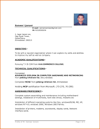 Basic Resume Format Basic Resume Format Word File Resume Template Example Basic Resume 16