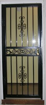 security storm doors with screens. [Accentuated Iron Security Black Storm Door In Columbus, Ohio] Doors With Screens