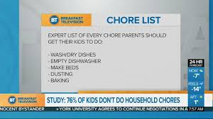 Chore Software Should Kids Do Household Chores Video Breakfast Television