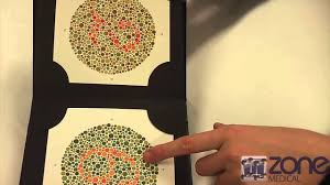 Although there are a number of tests available to identify color vision defects, the most common is called the ishihara or pseudoisochromatic plate test. Ishihara S Colour Deficiency Test Youtube