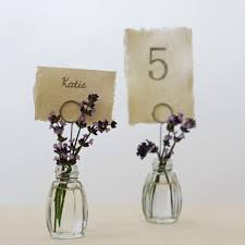 table number card holders. glass bud vase name card holders - set of 4 table number 2