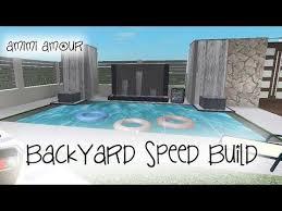 bloxburg backyard sd build
