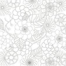 花もよう 美しい花のぬりえ70枚 1枚ずつ切り離せるレポートパッドタイプ リラクゼーションぬりえシリーズ