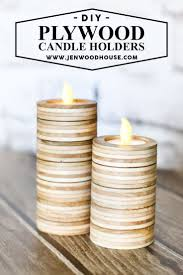Craft Projects Using The T Light Candles Diy Scrap Plywood Tea Light Candle Holders Diy Candle