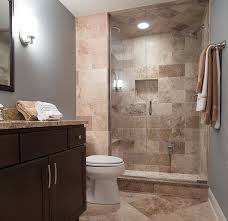 guest bathroom ideas. Brown Wall Tiles For Small Guest Bathroom Ideas   Decolover.net B