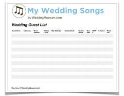 Wedding Song Playlist Printable Savable Wedding Worksheets Tools My Wedding Songs