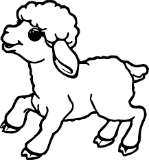 Small Picture Cute Small Sheep Coloring Page Wecoloringpage