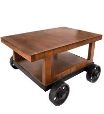 cart wheel coffee table bar trolley