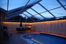pool cage lighting. privacy on demand inc custom outdoor curtains for your pool area or lanai cage lighting r