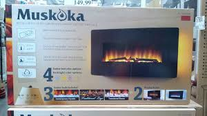 greenway home products muskoka curved wall mount electric fireplace sleek curved black glass remote