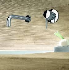 kraus single handle basin wall mount bathroom faucet for modern bathroom decor idea