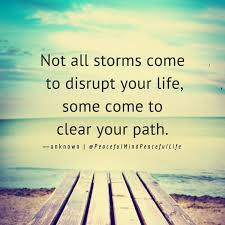 Not All Storms Come To Disrupt Your Life Some Come To Clear Your Unique Life Path Quote