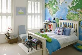 decorate boys bedroom. Interesting Bedroom 15 Boys Bedrooms With Map Walls To Decorate Bedroom M