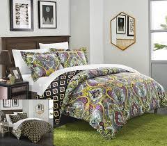 purple paisley bedding purple and yellow paisley duvet set