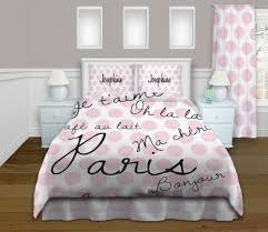 dot paris pink bedding