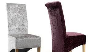krista crushed velvet dining chairs silver purple