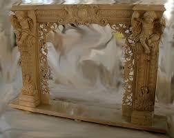 ornate decorative hand carved fireplace mantel artisankraftfireplaces com marble