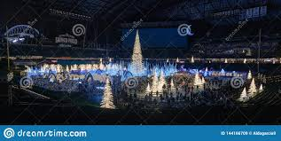 Qwest Field Christmas Lights Enchant Christmas Event Editorial Stock Image Image Of