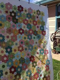 76 best Hexie quilts images on Pinterest | Hexagon quilting ... & The Vignette Hexagon Quilt: Long Awaited Finish Adamdwight.com