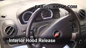 2004 2011 chevrolet aveo hose check 2009 chevrolet aveo ls 1 6l 4 cyl 2 open the hood how to pop the hood and prop it open 3 locate hoses locate the coolant