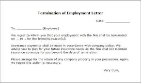 Employee Termination Letter Sample Format - April.onthemarch.co