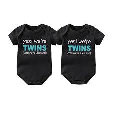 Culbutomind <b>Twins Baby clothes</b> Set Yes, we are <b>twins</b> Boy Girl Shirt ...