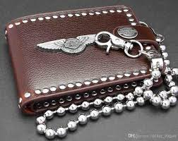 new mens and boys punk rocker biker beautiful leather wallet free wallet chains hobo international wallet filson wallet from rocker vogue 15 73 dhgate