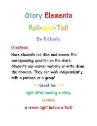 Story Elements Roll And Tell Game Story Elements