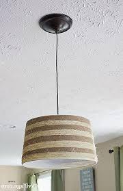 small lamp shade fresh new design burlap drum shade chandelier inspirational diy rope