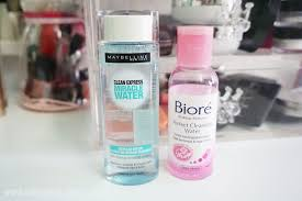 beauty review maybelline clean express miracle water vs biore perfect cleansing water