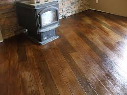 Concrete Wood Floor Decorative Concrete Wood Basement Floor Learn How To Insta Flickr